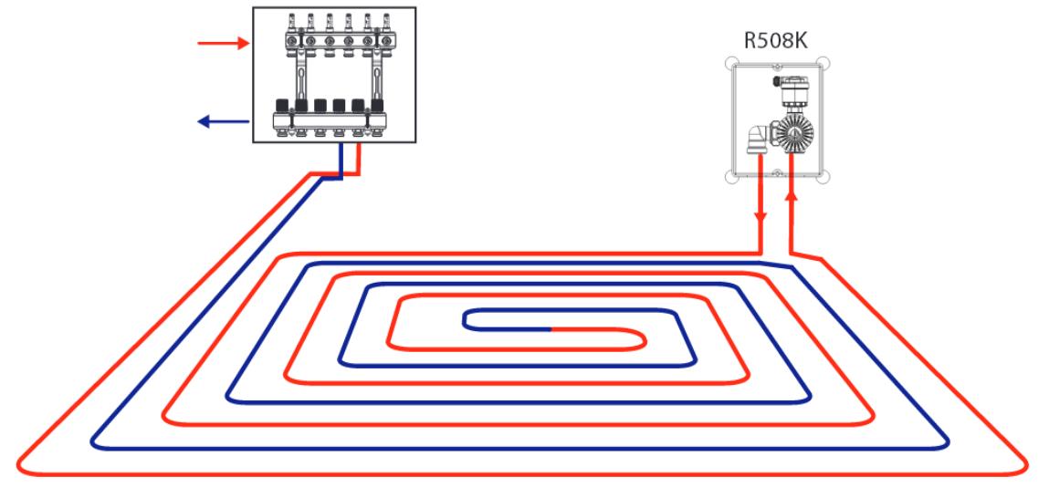 подключение теплого пола к радиаторам отопления