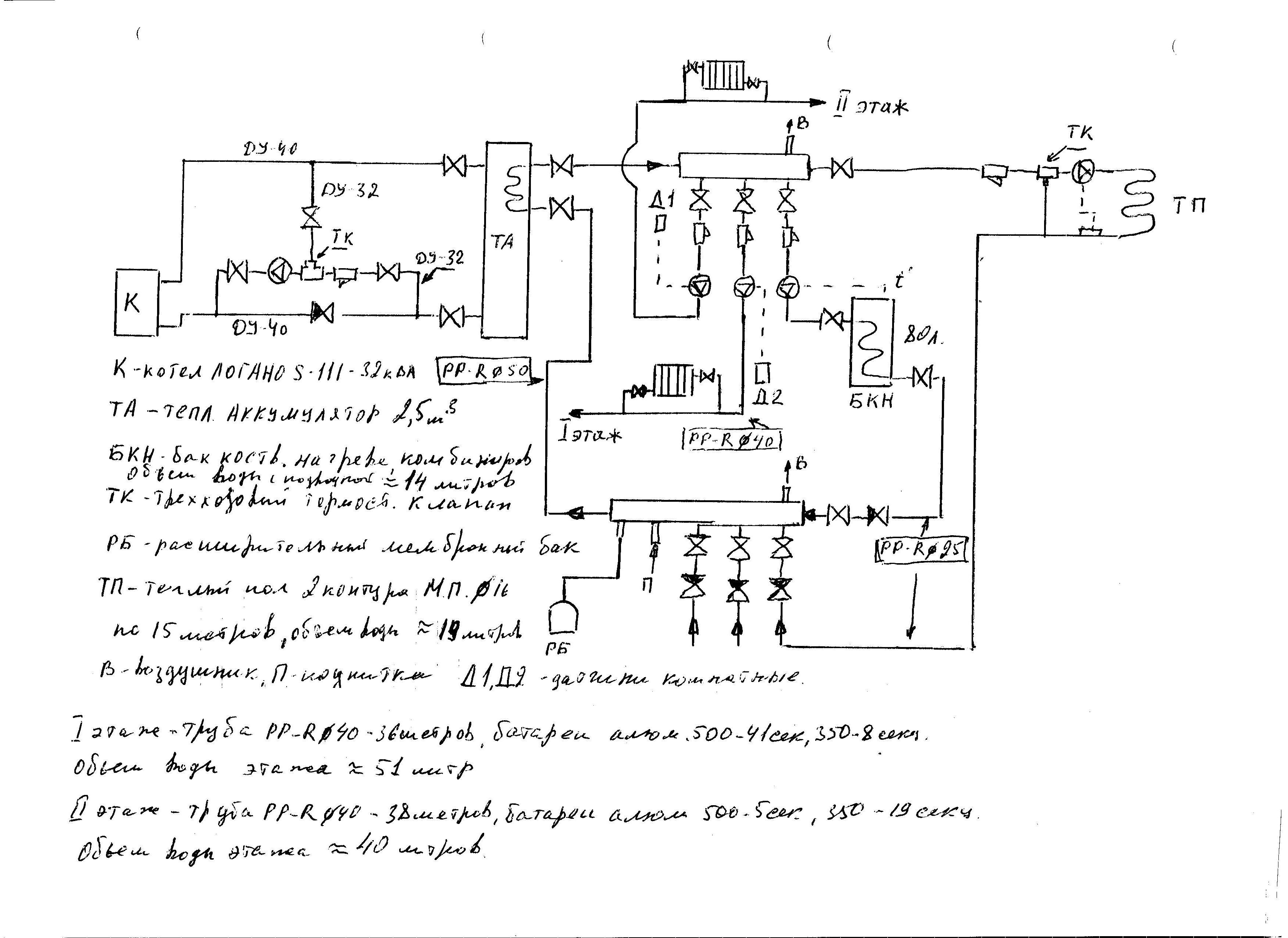 схема подключения насос для системы отопления