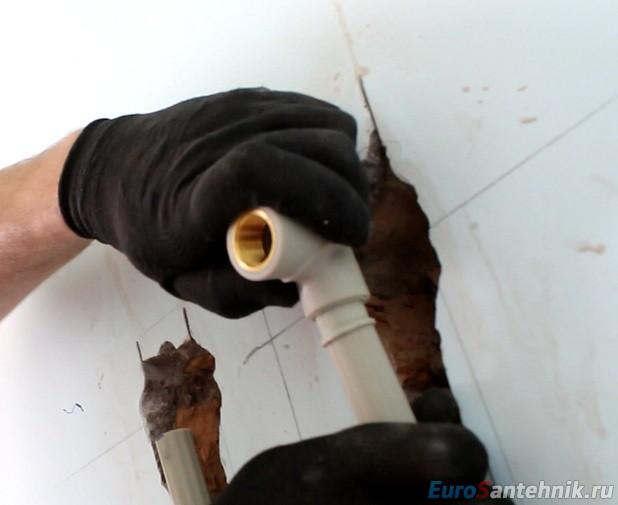 монтаж водорозеток