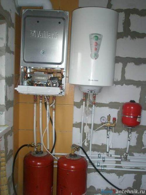 отопление дома газовыми баллонами