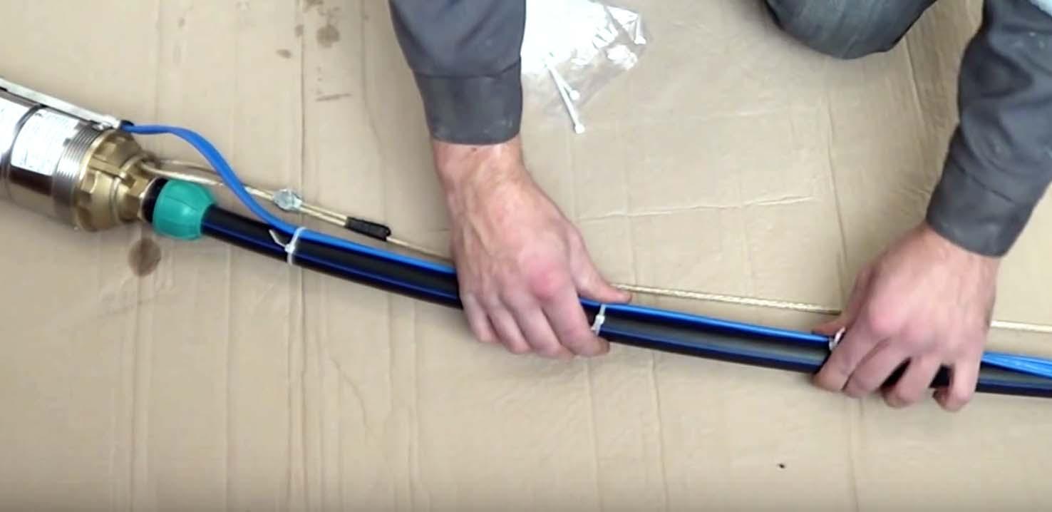 соединение кабеля со скважинным насосом