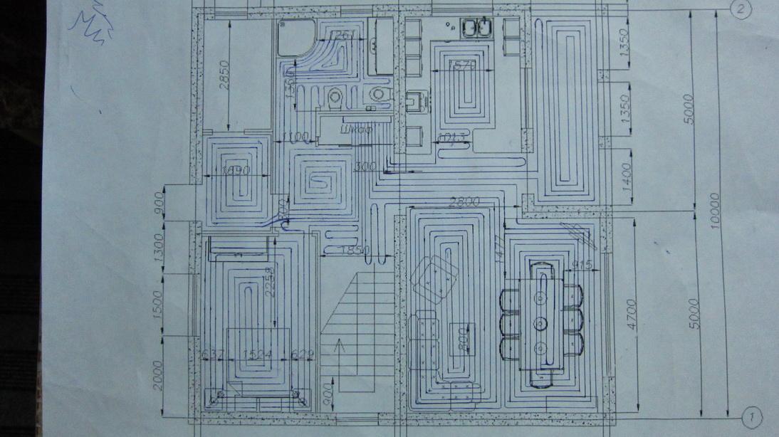Схема раскладки теплого пола 968