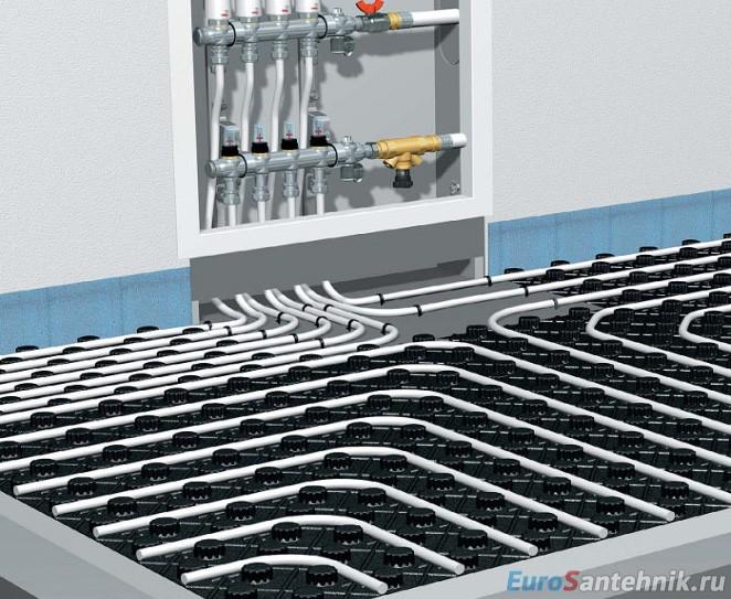 коллекторный шкаф водяной теплый пол