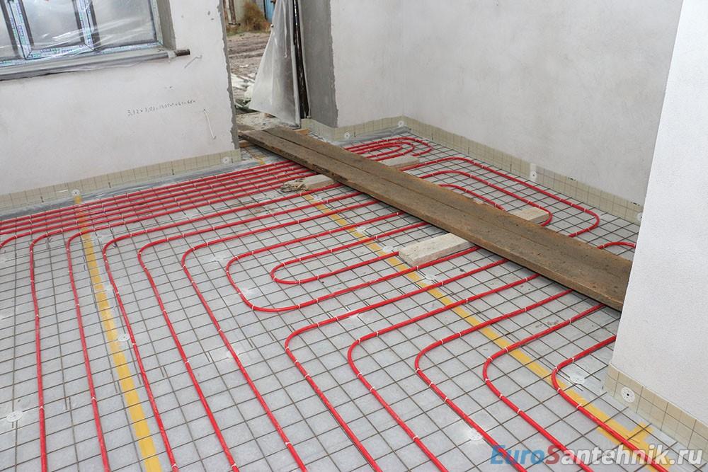 Как залить теплый пол под плитку своими