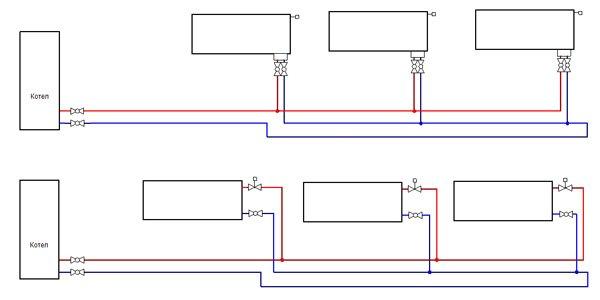схема подключения радиаторов отопления тихельмана