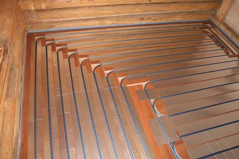 водяной теплый пол в деревянном доме без стяжки