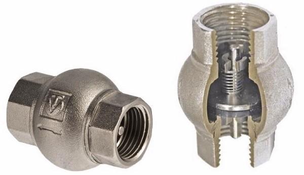 обратный клапан в разрезе