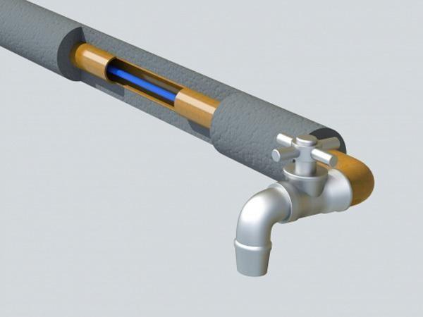 греющий кабель с теплоизоляцией