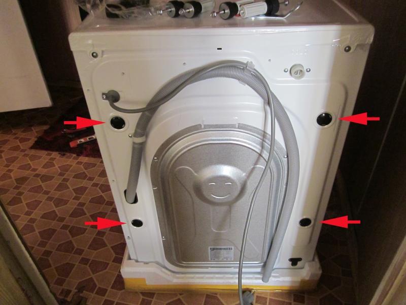 транспортировочные болты стиральная машина