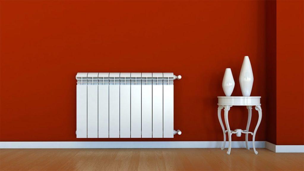 биметаллический радиатор в интерьере