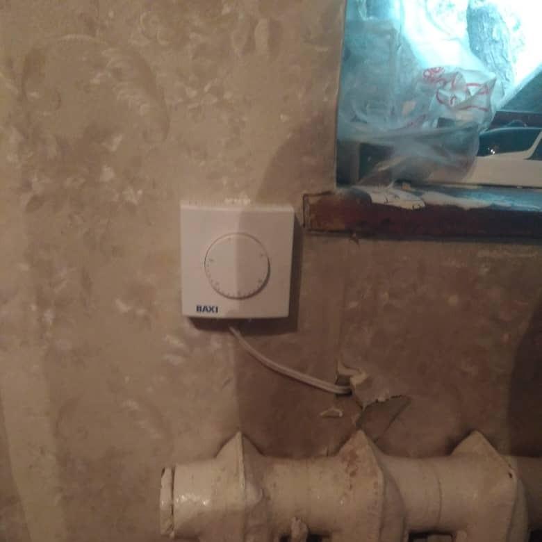 термостат неправильно установленный