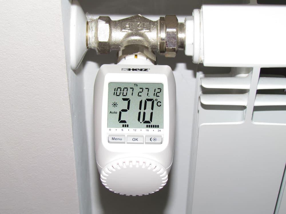 термостатический клапан термоголовка электронный