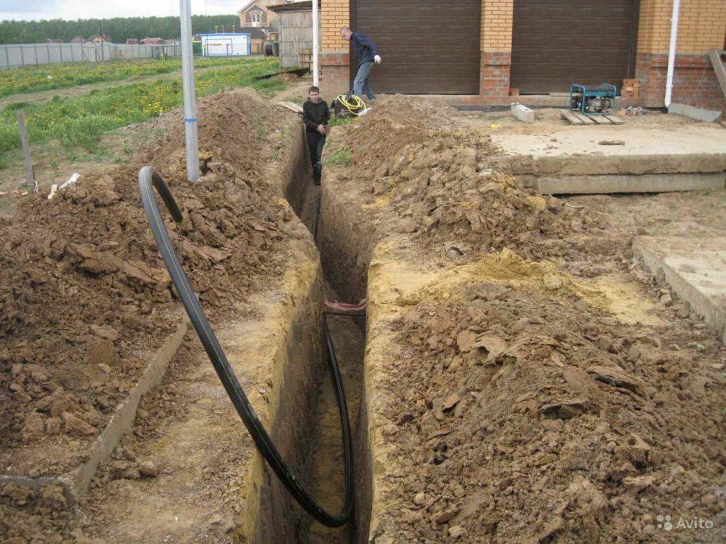 водопровод траншея