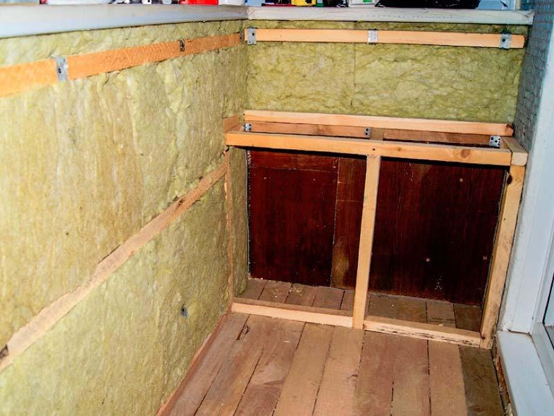 утепление лоджии балкона минеральной ватой